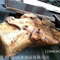 供应黄金樟根雕茶台 巴花家具