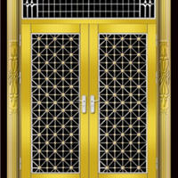 供应304不锈钢门 黄钛金不锈钢门