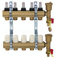 供应带流量计地暖分水器 黄铜智能型分水器