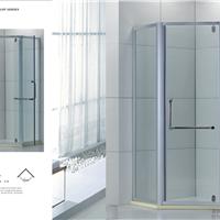 厂家低价格批发全铝材包边钻石型掩门淋浴房