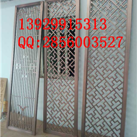 供应郑州酒店大厅304不锈钢红古铜花格屏风