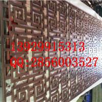 供应外墙装饰不锈钢做旧古铜背景墙花格厂家