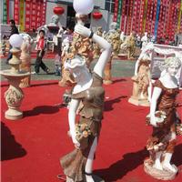 四川大理石彩色客厅走廊装饰欧式人雕塑摆件