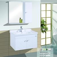 供应凌高卫浴6418白色橡木浴室柜