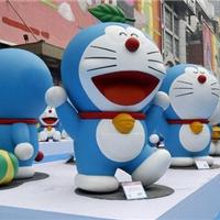 哆啦A梦雕塑,机器猫玻璃钢雕塑