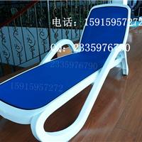 三亚户外塑料躺椅 泳池塑料躺床 塑料沙滩椅