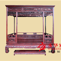 卧室家具精品红木大床永华家具红木品牌大床