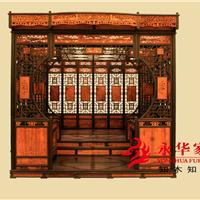 广东红木家具古典红木大床永华卧室装修效果