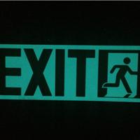 夜光PVC紧急出口标志,消防紧急疏散标志