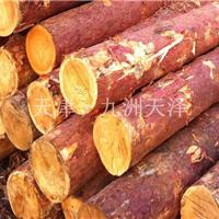 天津落叶松檩条黄花松原木圆木市场价格