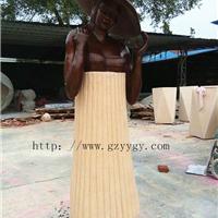 砂岩人物雕塑 砂岩女人雕塑厂家 铸铜雕塑