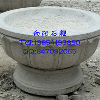 盐城石雕花盆|石雕花钵|黄锈石景观花盆花钵