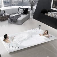 供应双人嵌入式亚克力按摩冲浪情侣浴缸