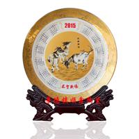供应2015年羊年日历陶瓷纪念盘