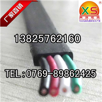 伸缩门扁线 电动门扁电缆 4芯0.75平方扁线