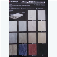 供应LG 塑胶地板 同质透心叠彩石PVC片材