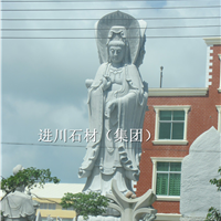 花岗石雕刻 观音 麻城芝麻白批发 自有矿山