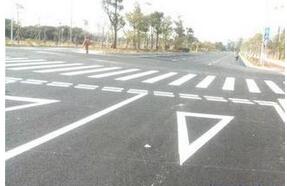 郑州停车位与道路标线施工 热熔标线