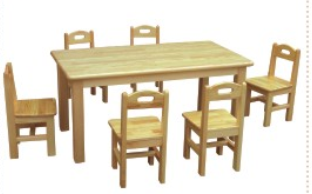 供应儿童实木桌椅0671