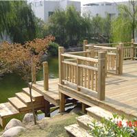 供应青岛防腐木围栏木栏杆户外木栅栏