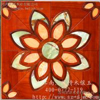 供应木镶玉拼花 和木镶玉拼花 玉石拼花地板