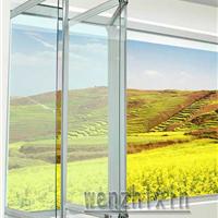 广州出口定制铝合金门窗 无框阳台窗