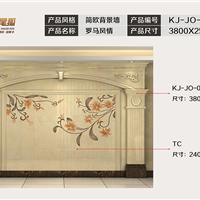 九尾狐石材客厅电视背景墙简欧KJ-JO-001