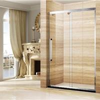 供应2015新款304不锈钢玻璃移门普通淋浴房