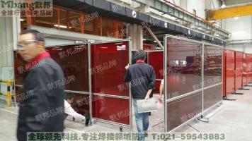 行业推荐默邦品牌铝合金焊接隔断围栏