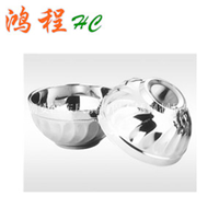 供应不锈钢双层百合碗玉兰碗礼品赠品餐具