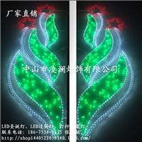 LED绿意图案灯|LED灯杆造型灯新疆广场亮化