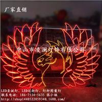 过年LED灯杆图案、中式LED猴年春节图案灯