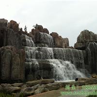 供应塑石假山瀑布设计方案人工假山瀑布制作