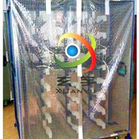 供应1000D/3*3大格子PVC透明网格布防尘布