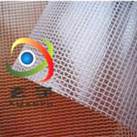 供应箱包手袋专用透明夹网布透明网格布