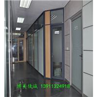 优质环保办公室玻璃隔断墙双玻百叶隔断