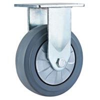 重型C款灰色高弹力橡胶脚轮