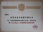 中国品牌影响力提升计划荣誉企业