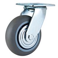 重型超级人造胶脚轮 超静音TPR脚轮