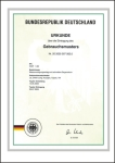 德国专利证书-快速对洗式水质净化装置