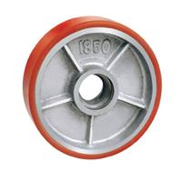 高品质铁芯聚氨酯叉车轮 PU脚轮