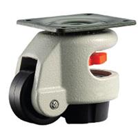 优质水平调节脚轮-绿色平板型