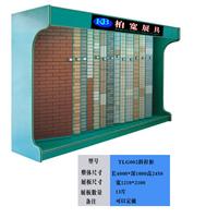 供应厂家定制斜推拉瓷片展示柜,瓷砖展柜