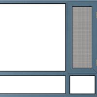 断桥窗纱一体平开窗 2.0断桥隔热平开窗