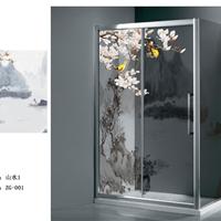 淋浴房玻璃 艺术玻璃 彩色玻璃