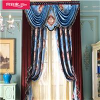天一舍软装窗帘欧式古典奢华人造丝绒雕印