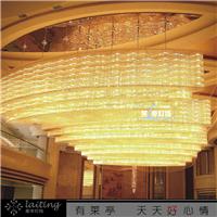 订制做梅花管长方形吸顶灯大型酒店工程灯