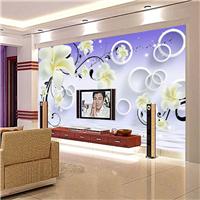 无缝墙布 墙纸 3D沙发电视背景墙 厂家定制