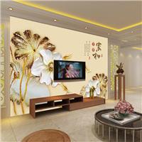 无缝墙布 3D家和富贵 沙发电视背景墙 墙纸