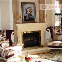 南京盘古世纪石材-定制大理石壁炉,欧式风格壁炉,壁炉背景墙